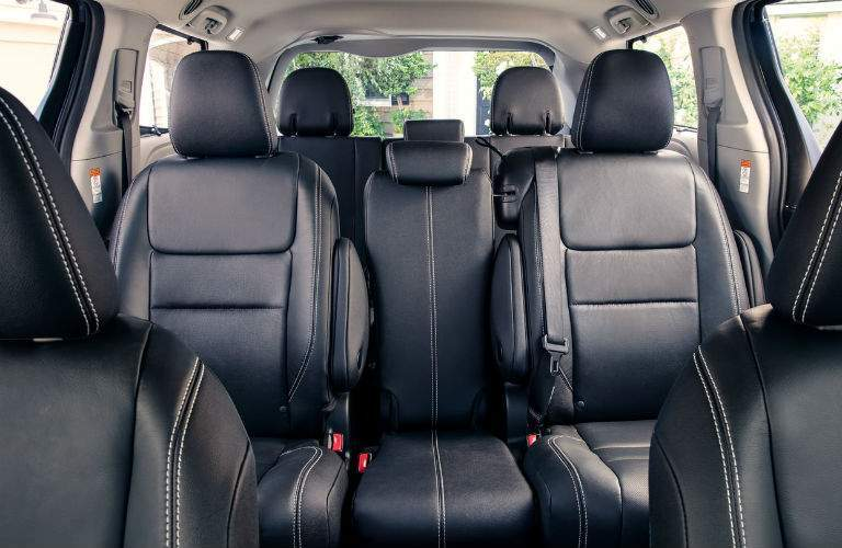 2018 Toyota Sienna Interior Cabin Rear Seats from Front