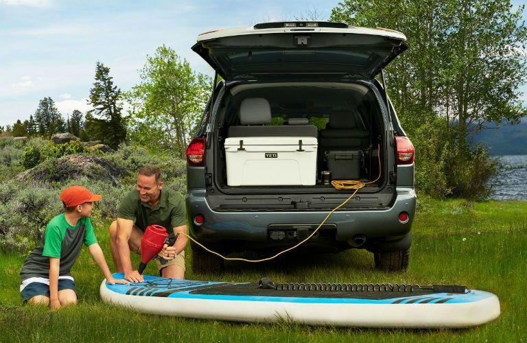 2020 Toyota Sequoia Exterior Rear Fascia Tailgate Open Cargo Filled