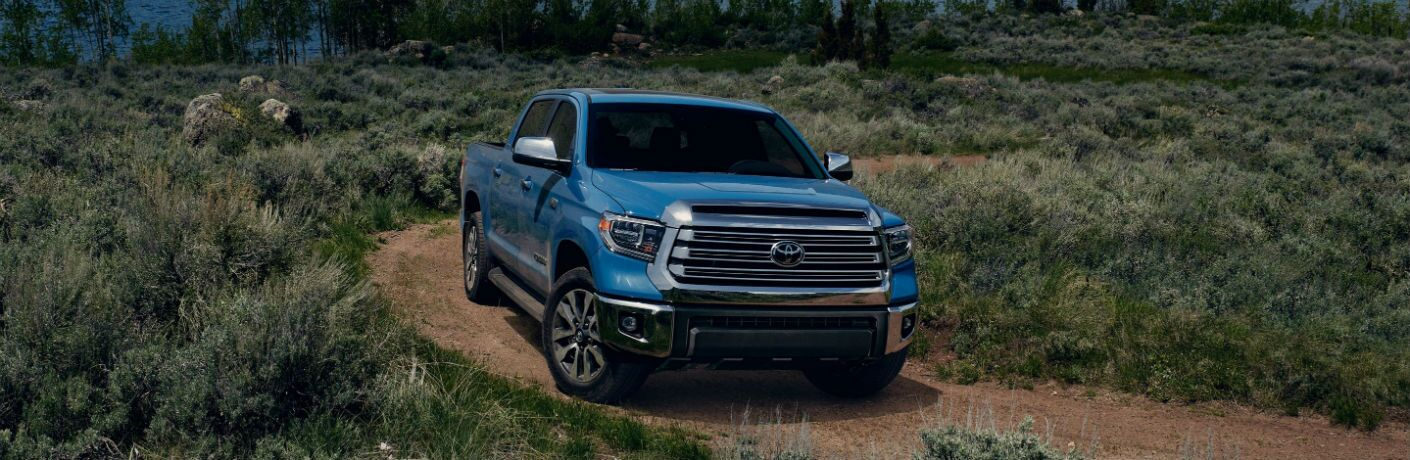 2020 Toyota Tundra Exterior Passenger Side Front Angle in Field