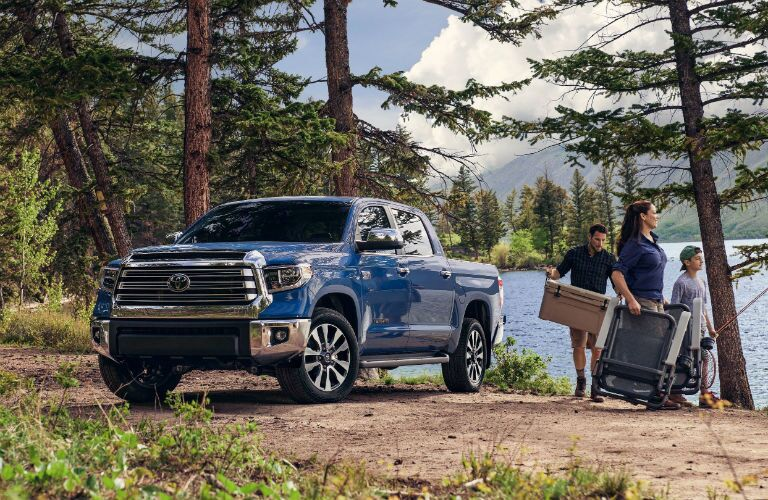 2020 Toyota Tundra Exterior Driver Side Front Profile by the Lake