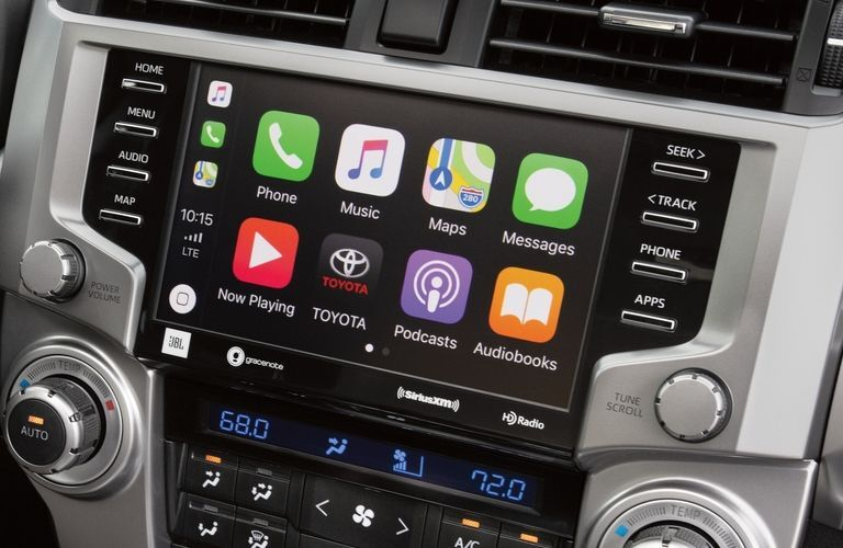 2020 Toyota 4Runner Limited 4x4 interior showing Apple CarPlay on the touchscreen