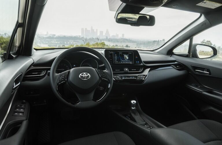 Interior 2018 Toyota C-HR centered on driver