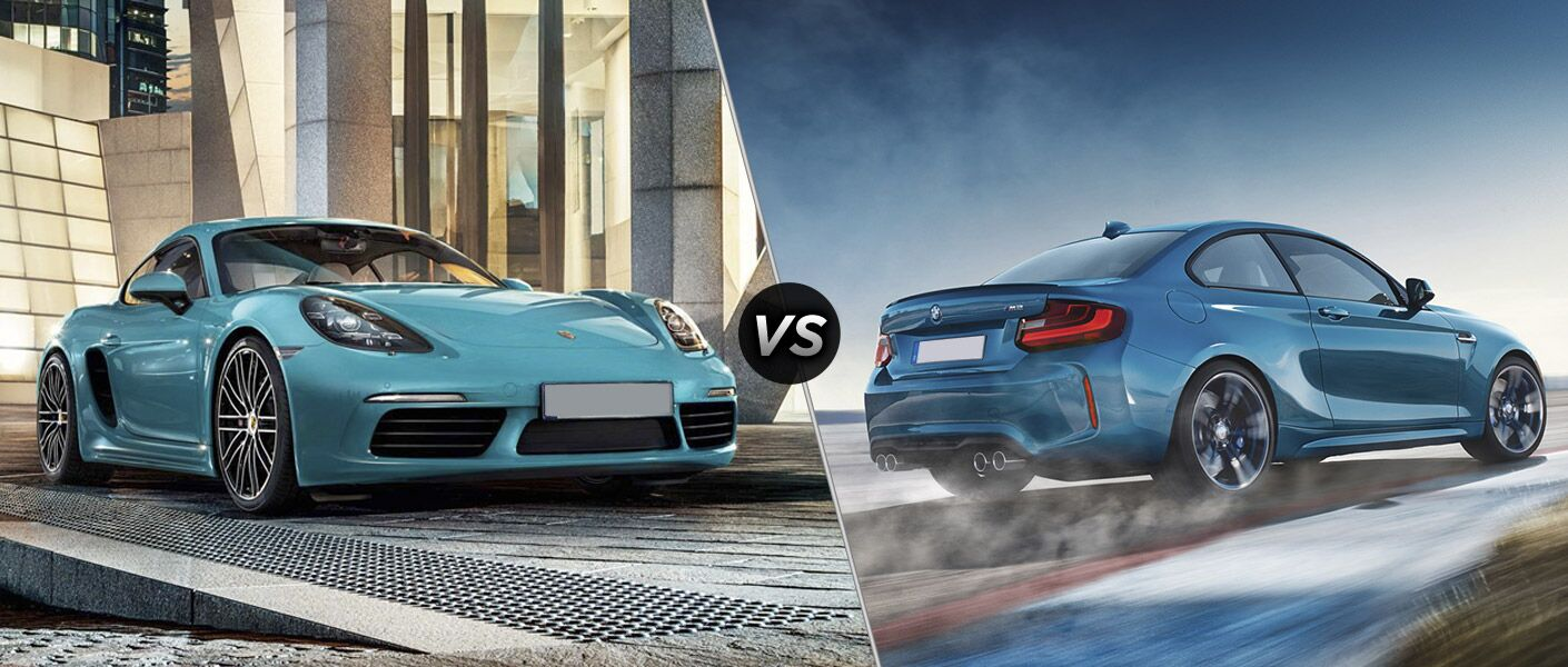 2017 Porsche 718 Cayman vs 2017 BMW M2