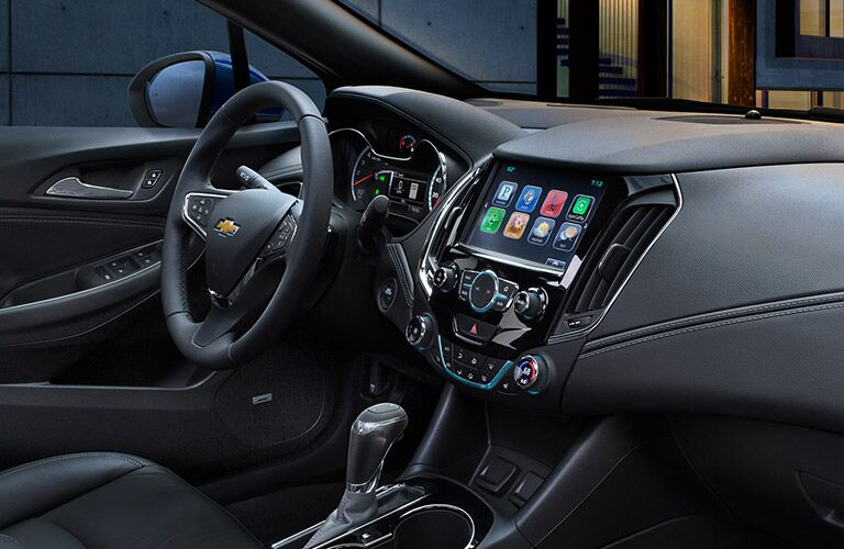 2016 Chevy Cruze infotainment system and steering wheel