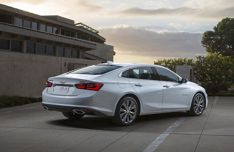 Rear view of the 2016 Chevy Malibu