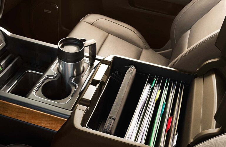 2016 Chevy Silverado 2500HD cubbies and cupholders