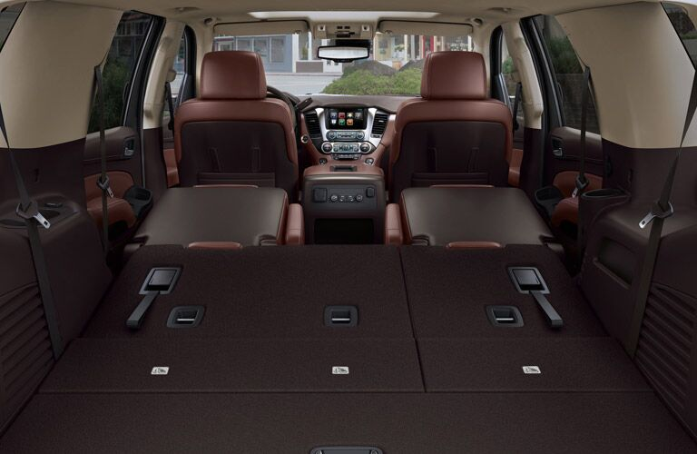 2016 Chevy Tahoe flat-folding seats