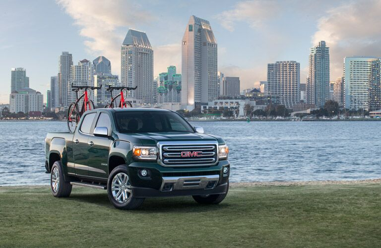 2016 GMC Canyon before a city