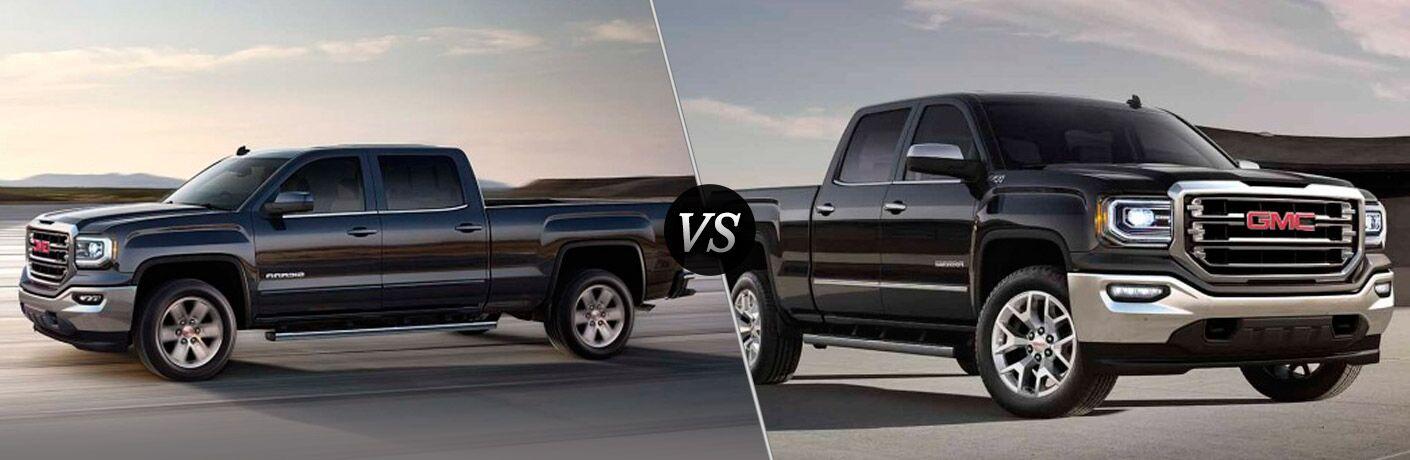 2016 GMC Sierra SLE vs SLT