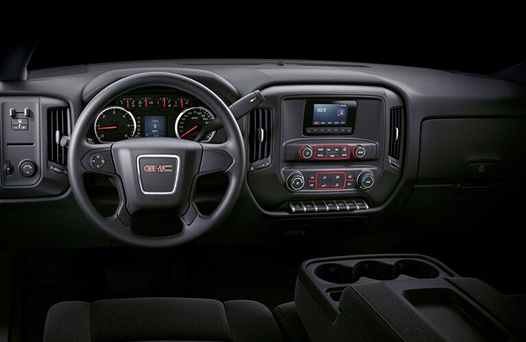 Dashboard view of the 2016 GMC Sierra