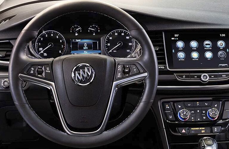 steering wheel and IntelliLink of the 2017 Buick Encore winnipeg, mb
