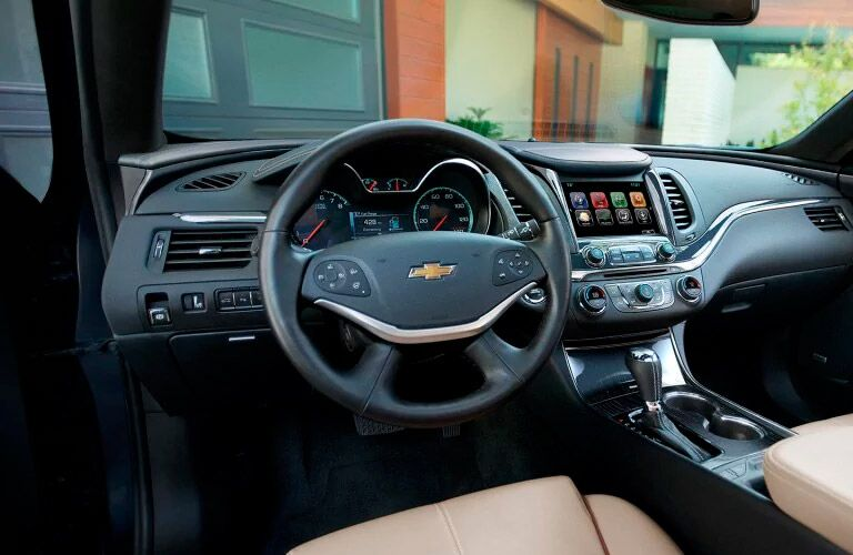 steering wheel and dashboard on the 2017 Chevy Impala winnipeg, mb