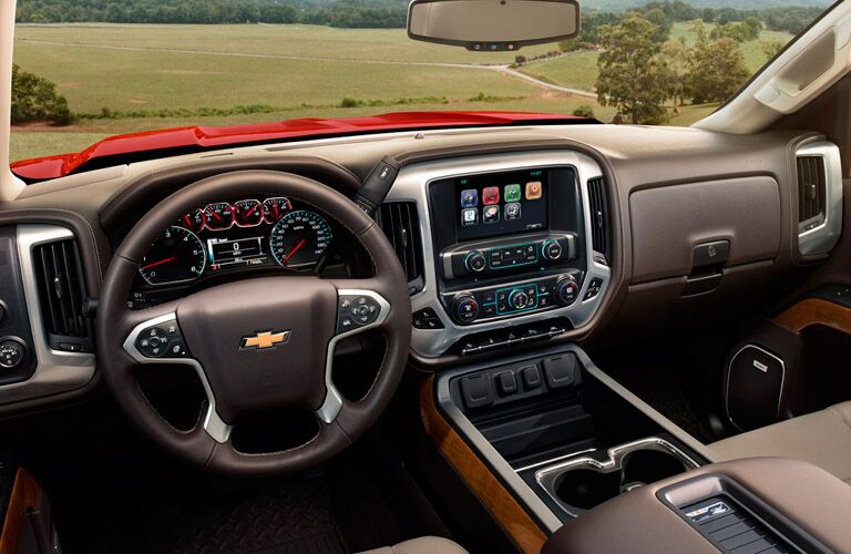dashboard of the 2017 Chevrolet Silverado 1500 Winnipeg, MB