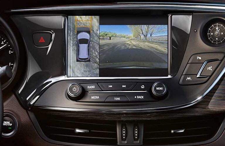 close-up of the 2017 Buick Envision rear backup camera Winnipeg, MB
