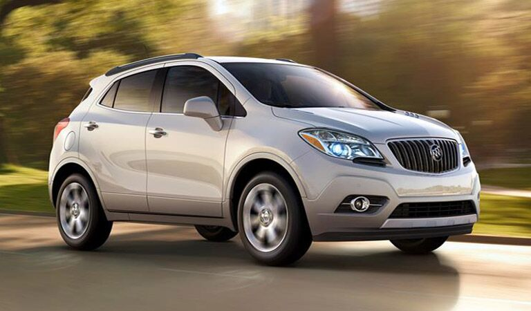 Silver Buick Encore on the road