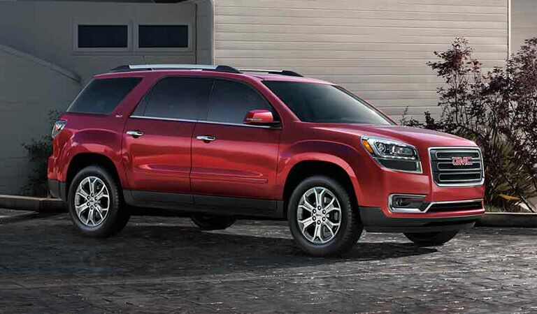 Red GMC Acadia SUV crossover Winnipeg, MB