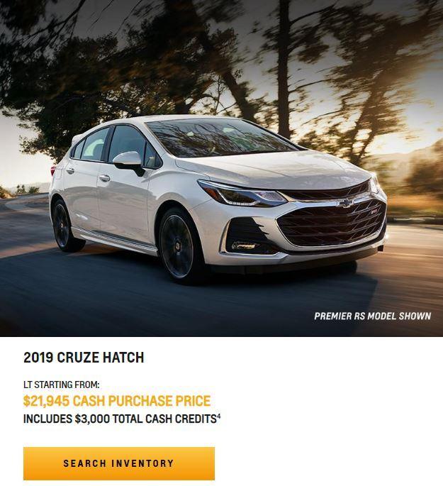2019 CRUZE HATCH NEAR WINNIPEG, MB