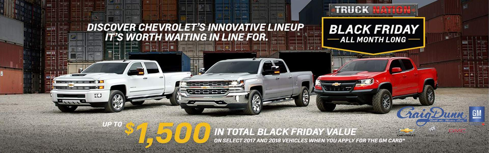 chevrolet black friday winnipeg, mb