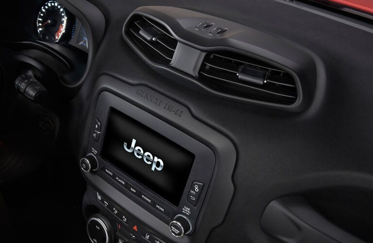 Entertainment system in 2017 Jeep Renegade