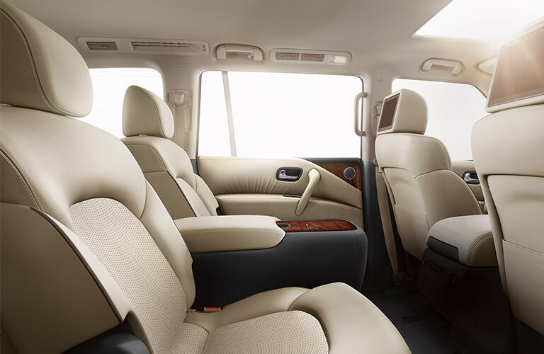 2020 Nissan Armada second row of seating