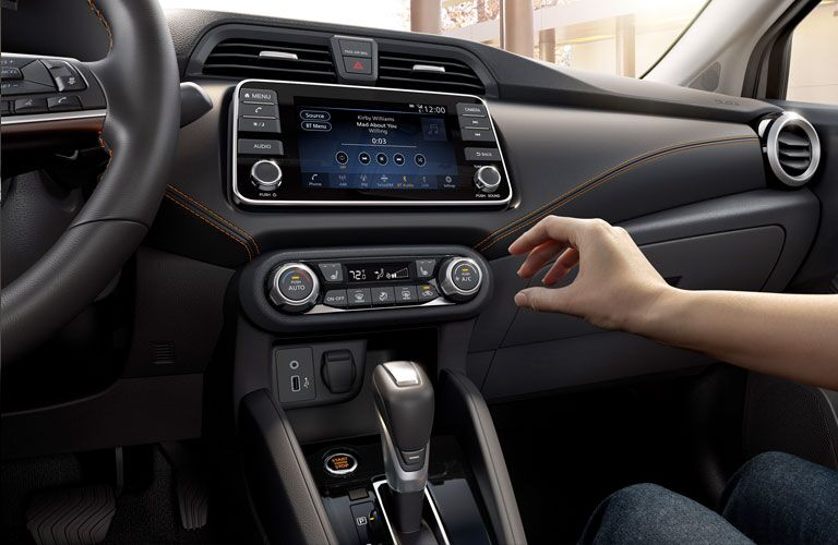 Infotainment system inside of the 2020 Nissan Versa
