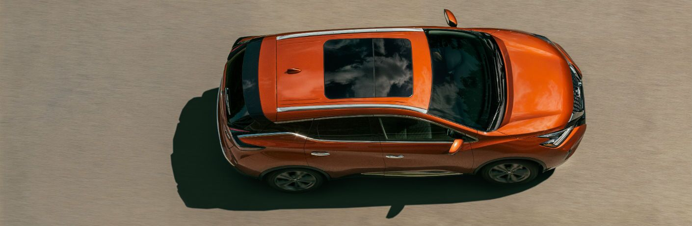 An overhead photo of the 2020 Nissan Murano.