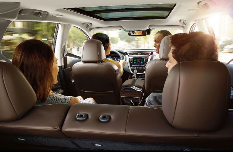 A photo of the seating space in the 2020 Nissan Murano.