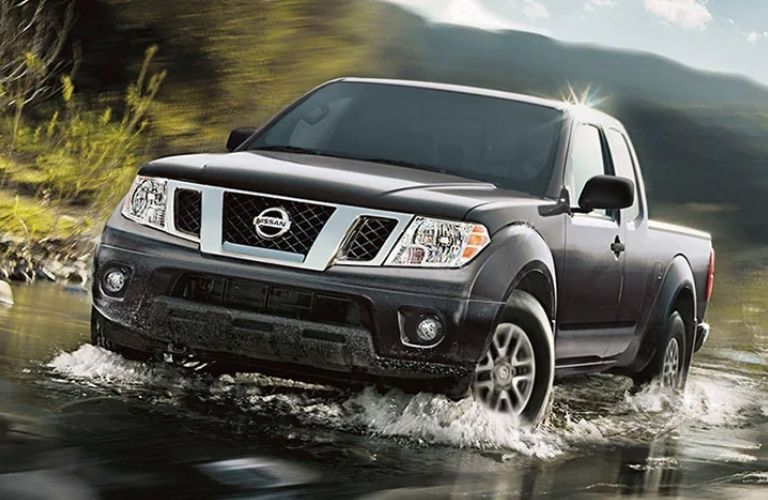 Close up view of the 2021 Nissan Frontier on water