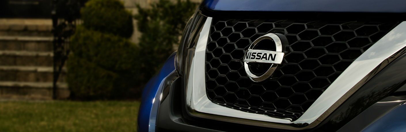 A photo of the new grille design for the 2019 Nissan Murano.