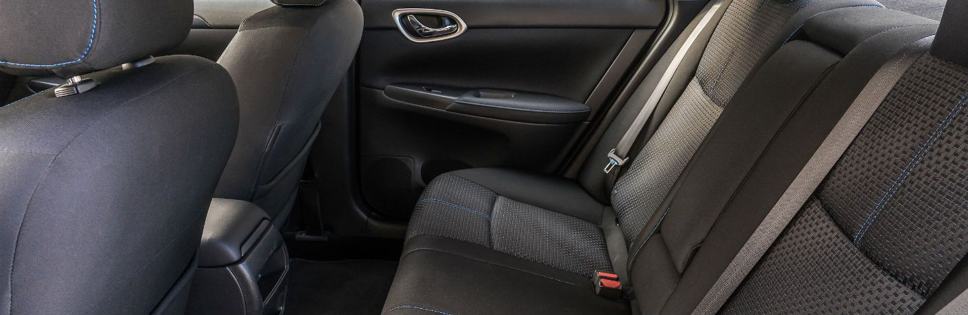 A photo of the back seat in the 2019 Sentra.