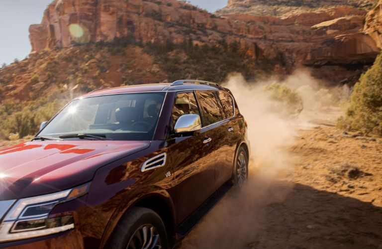 A photo of the 2021 Nissan Armada in the desert.