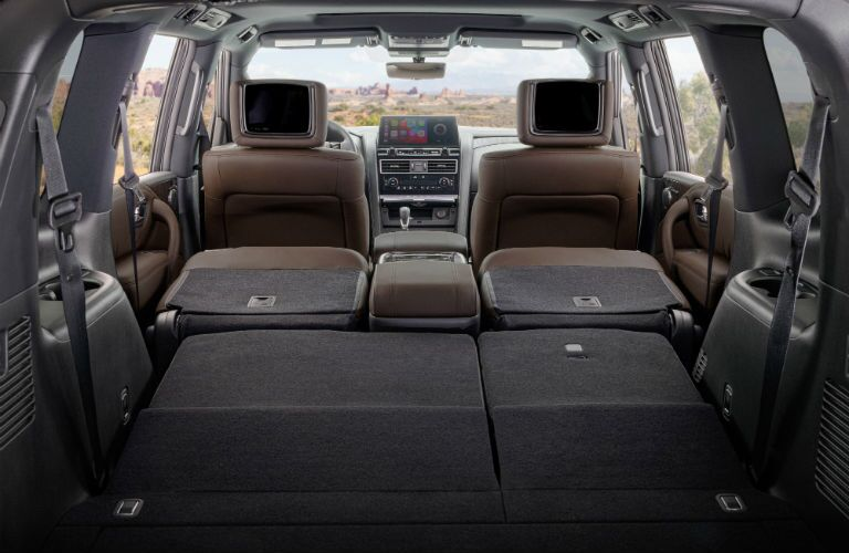 A photo of the maximum cargo configuration of the 2021 Nissan Armada.