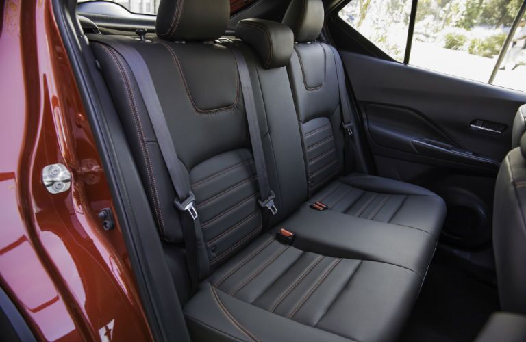 A photo of the back seat in the 2018 Nissan Kicks.