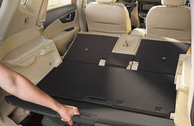a view of the cargo space available in the 2018 Nissan Rogue