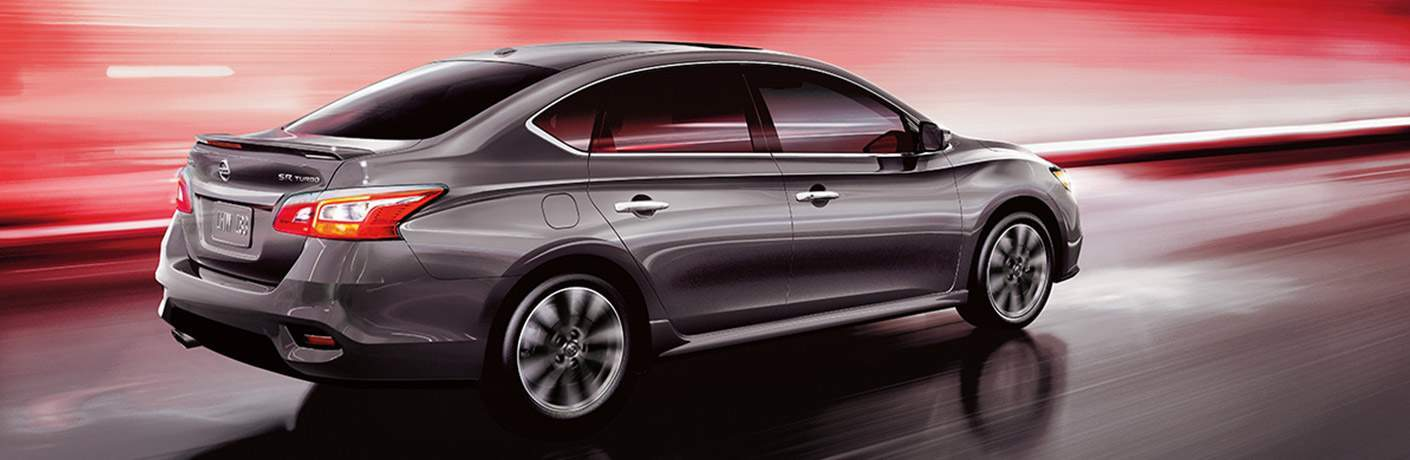 A photo illustration of a right profile view of the 2018 Nissan Sentra