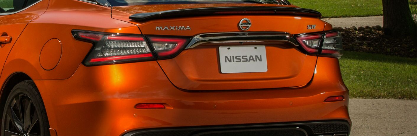 A photo of the rear of the 2020 Nissan Maxima.
