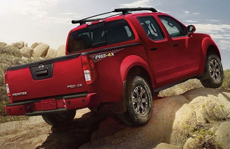 Rear view of the 2021 Nissan Frontier