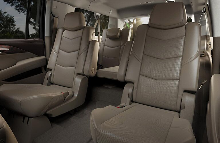 view of the rear seats of the 2016 Cadillac Escalade