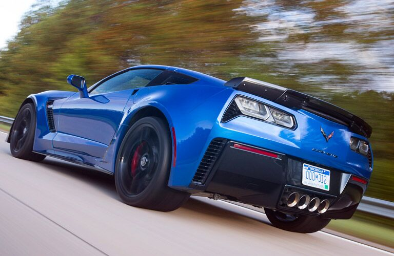 2016 Chevy Corvette on the road