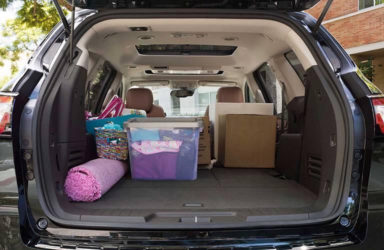 Generous storage space 2016 Chevy Traverse Alexandria Motors
