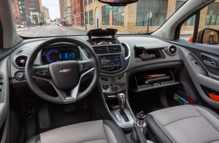 dashboard view 2016 Chevy Trax