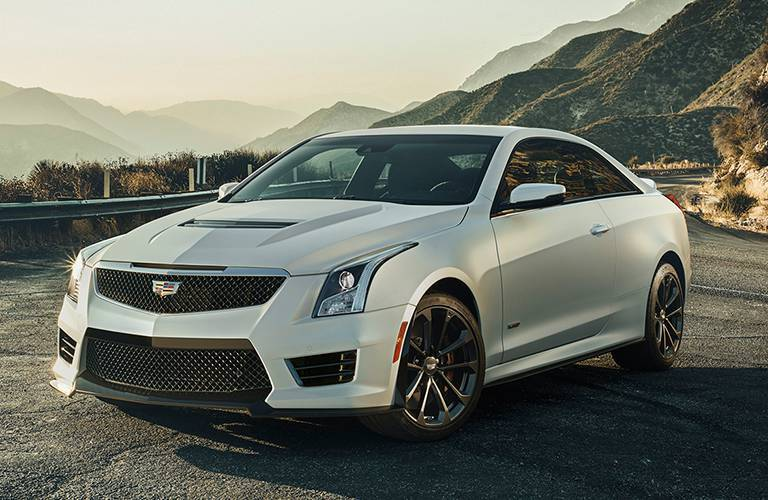 The Cadillac ATS compact sport sedan on the road
