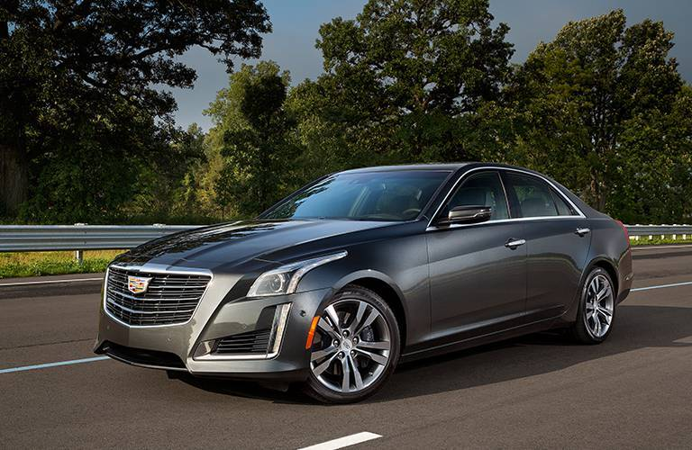 Cadillac CTS midsize sedan grey