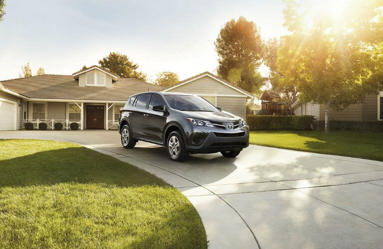 Gray 2015 Toyota RAV4 Front Exterior in Driveway