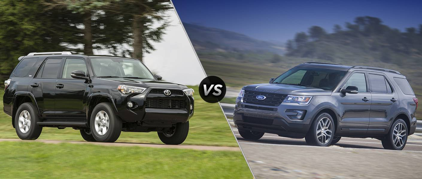 2016 Toyota 4Runner vs 2016 Ford Explorer
