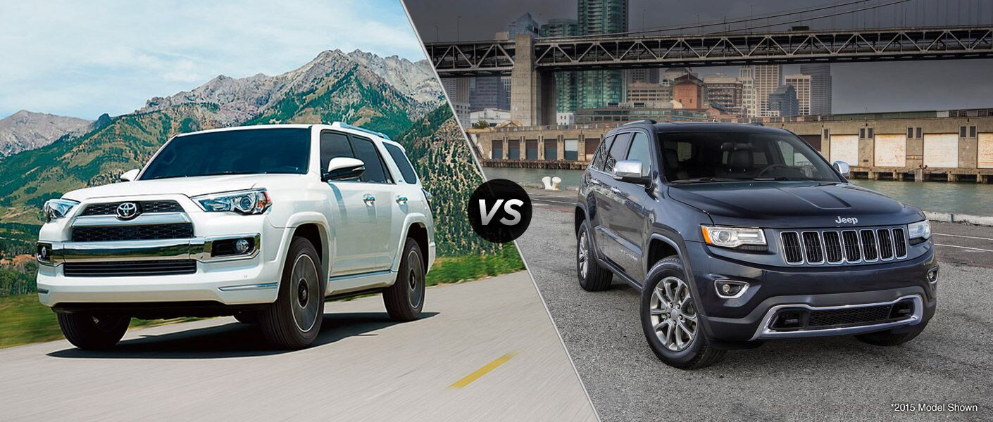 2016 Toyota 4Runner vs 2016 Jeep Grand Cherokee at J. Pauley Toyota