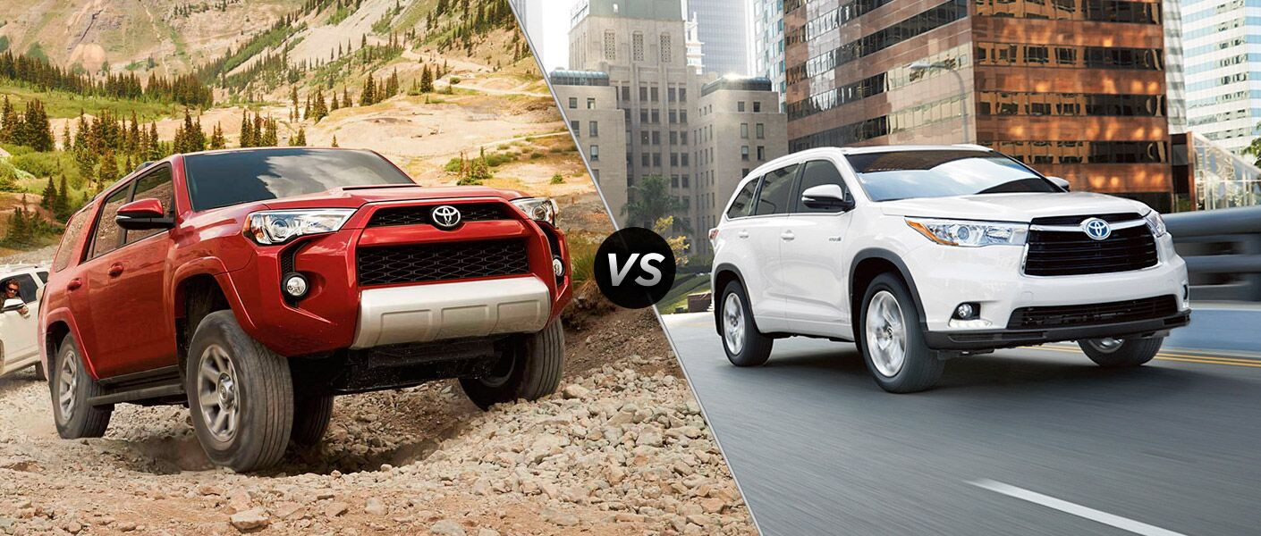 2016 Toyota 4Runner vs 2016 Toyota Highlander