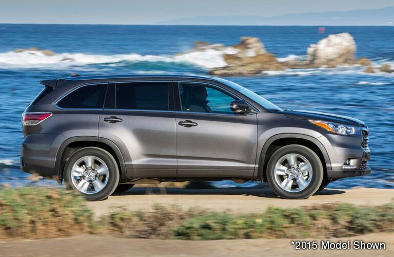 Gray 2016 Toyota Highlander Side Profile