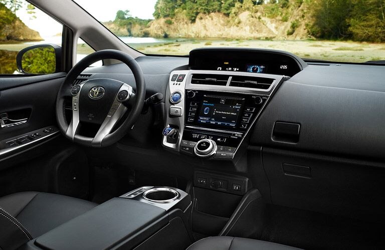 2017 Toyota Prius v Interior with Toyota Entune Touchscreen