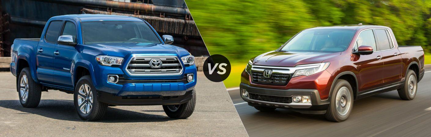 New Toyota Tacoma vs 2017 Honda Ridgeline
